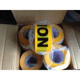 Nachweisbare gelbe schwarze Fußboden-Markierungs-warnendes Vorsicht-Band