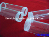 Polimento de incêndio rosca de tubo do aquecedor de vidro de sílica fundida