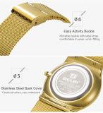 Chinese Fabriek van het Polshorloge van de Legering van het Staal van de Horloges van de Mensen van het Merk van de Luxe van Belbi de Analoge Uiterst dunne Gemaakt tot Horloge Mens Gouden Zwarte Zilveren Kleur Drie voor u om te kiezen