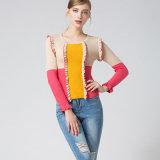 2018 nueva primavera/otoño colorido los géneros de punto para las mujeres Pullover de moda suéter