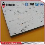 Painel composto plástico de alumínio da textura de mármore barata da decoração interior