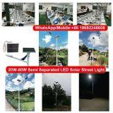 A elevada eficiência 70W luzes LED solares separados das luzes da rua Solar