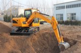 Un mini escavatore da 8 tonnellate con il buon motore