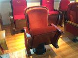 Muebles Auditotium cubierta de madera y una sola pierna silla VIP