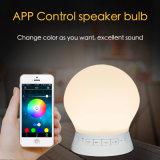Altofalante estereofónico de Bluetooth do bulbo do diodo emissor de luz