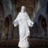 Scultura di marmo della statua del Jesus, scultura religiosa