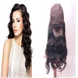 Parrucca anteriore del merletto in parrucca in capelli che tessono trama astuta (capelli umani di 100%)