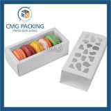 Pequeño rectángulo de torta laminado Matt blanco de la tarjeta de papel (CMG-apelmazar box-019)