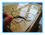 L'autoadesivo trasparente dell'etichetta adesiva può essere personalizzato