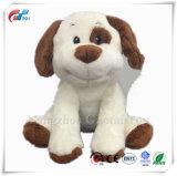 Ce certificat chiot en peluche blanc doux chien jouet pour les enfants