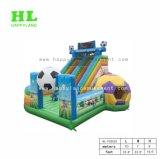 Kids를 위한 Slide 그리고 Bouncer를 가진 축구 Theme Inflatable Funcity