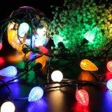 120V UL facettierte C9 25 LED 16FT feenhaftes Weihnachtsdekorative Zeichenkette-Lichter