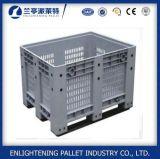 caixa de pálete 606L plástica contínua com as rodas para a agricultura
