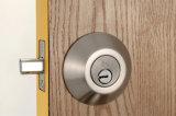 La puerta deslizante del metal del acero inoxidable bloquea el solo cilindro Deadbolt 3 mismos claves de cobre amarillo