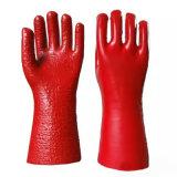 С другой стороны ПВХ Non-Slipped рабочие перчатки