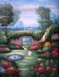 ホーム装飾のためのトマスの庭の景色の油絵の再生