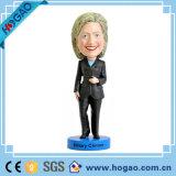 Подгонянное Polyresin смешной политический Hillary Клинтон Bobble головка