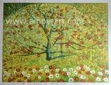 装飾のためのハンドメイドの花の花のキャンバスの油絵の壁の芸術