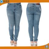 Il nuovo cotone di modo delle signore ansima i jeans scarni del denim