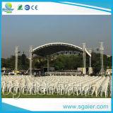 Boda del acontecimiento del concierto de aluminio etapa del partido del braguero