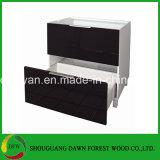 Gabinete de la base de cocina armario con cajones armario, High-Gloss Color negro lacado Armario de Cocina