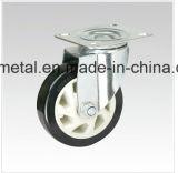 Mittlere Aufgabe doppelte bördelnde PU-Fußrolle H-Technologie PU-Fußrollen-schwere Fußrollen-Räder