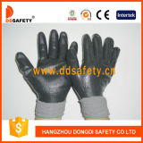 Ddsafety 2017 Grau-Nylon mit schwarzen Nitril-Handschuhen