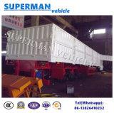 De 3 essieux de flanc de pieu de cargaison remorque de camion semi