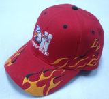 Rote Baseballmütze mit gesponnenem Kennsatz Appliquebb226