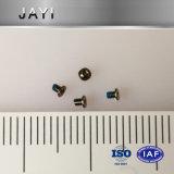 Vite metrica M1.2*1.5, anti adesivo d'allentamento nichelato e di nylon nero della micro vite