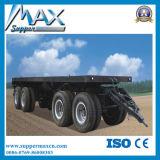 4 Flatbed Semi Aanhangwagen van de as met het Voor Opheffen van de As