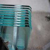 10mm sur plat bords polis pour porte de douche en verre trempé