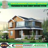 Hogares prefabricados prefabricados de la estructura de acero, taller, casa minúscula de madera del chalet