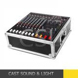 misturador audio psto 500W*2 de 8CH DJ com amplificador