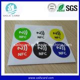 최신 판매 25mm 둥근 NFC Ntag213 스티커