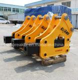 上のタイプおよび構築の掘削機機械のための側面のタイプ油圧ブレーカ