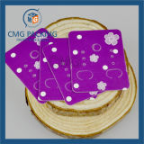 Carte de papier de couleur beige Earring Earring carte display (CMG-079)