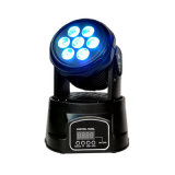 Mini-Déplacement de la tête 7 10W à LED RGBW lavés RGBW 4en1 LED Moving Head Light RGBW 7 10W Mini LED Phare mobile