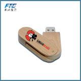 Kundenspezifischer hölzerner USB-Stock Bambus-USB-Blitz-Laufwerk für förderndes Geschenk