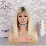 Pruiken van het Menselijke Haar van het Kant van het Haar van de kleur 1bt#613 de Braziliaanse Indische Maagdelijke Volledige