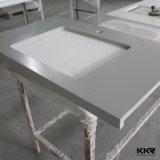 Pietra di Quarzt che cucina piatto ed il controsoffitto di superficie solido della costruzione prefabbricata della cucina