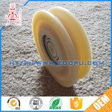 Encaixes da porta do rolamento da polia/roda do rolo porta deslizante/polia de nylon plásticos pequenos da planta