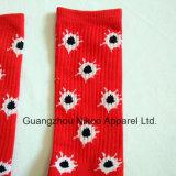 Qualidade de algodão personalizada meias de tripulação de Elite com os Logotipos Jacquard