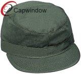 Tampa de camuflagem em branco Army Hat com 100% de algodão sarjado
