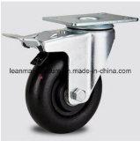 PU-Flachschwenker-Fußrollen-Rad