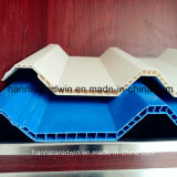 La ripia arquitectónica de la azotea colorea el azulejo de material para techos hueco del PVC Twinwall del plástico