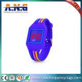 Silicone coloridos pulseira RFID com luz LED Watch para Hotel