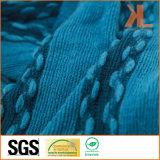 Шарф способа Acrylic 100% голубым Striped связанный Warp с краем