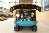 保定のバックホウの小型クローラー掘削機Bd23 (2.3T/0.1m3)