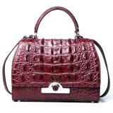 Entwerfer-Marken-zitiert Luxuxart-Rotwein-Krokodil-Leder-Dame 2018 Handbag mit Bescheinigung